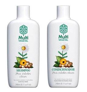 Shampoo e condicionador veganos Multi Vegetal – Camomila, trigo e calêndula 240ml