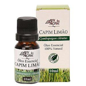 Óleo essencial de capim limão/lemongrass vegano e natural Arte dos Aromas 10ml