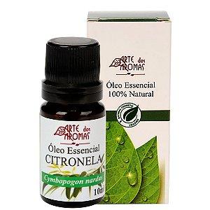 Óleo essencial de citronela vegano e natural Arte dos Aromas 10ml