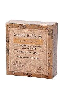 Sabonete vegano e natural em barra Arte dos Aromas - Argila amarela 100g