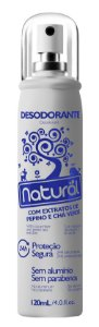 Desodorante vegano spray Suavetex - Pepino e Chá Verde Natural 120ml