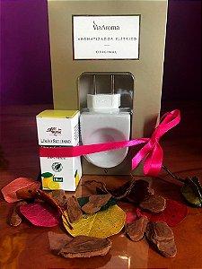 Aromatizador elétrico de porcelana e óleo essencial de limão siciliano