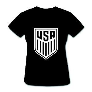 Camiseta Baby Look - Usa Soccer Team - 100% Algodão