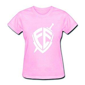 Camiseta Baby Look Da Fé - 100% Algodão