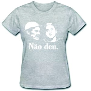 Camiseta Baby Look - Seu Madruga E Kiko - 100% Algodão