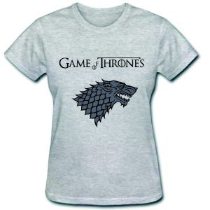 Camiseta Baby Look Game Of Thrones - 100% Algodão