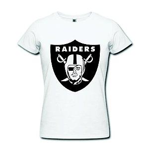 Camiseta Baby Look - Oakland Raiders - 100% Algodão