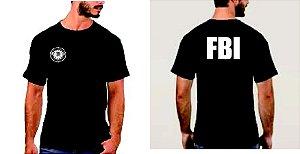 Camiseta FBI 100% Algodão