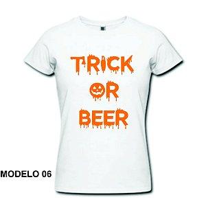 Camiseta Baby Look - Halloween - 100% Algodão