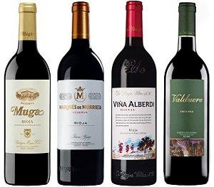 Experiência Tops Bodegas da Espanha - Kit C/ 4 garrafas