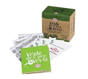 Kit Sementes Verde que te quer Ver-te Rucula Alface e Couve