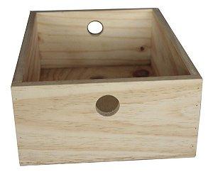 Caixa Organizadora De Madeira 40x30x15 Reforçada