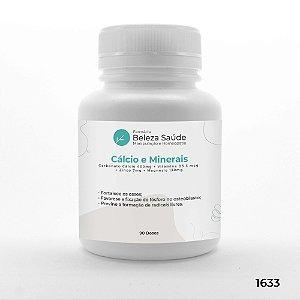Cápsulas Reposição de Cálcio e Minerais - 90 doses