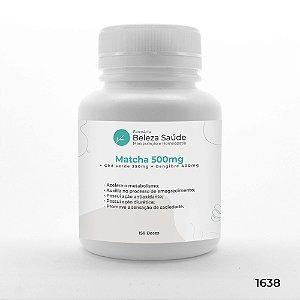 Cápsulas Verde Moduladora Corporal : Matcha + Gengibre + Chá Verde - 150 doses