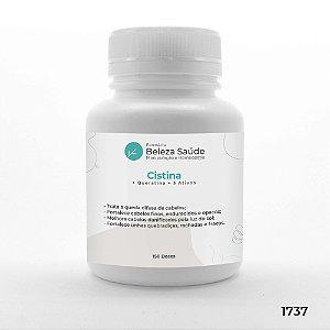 Cistina + Queratina + 5 Ativos - Combate Cabelos e Unhas Fracas - 150 doses