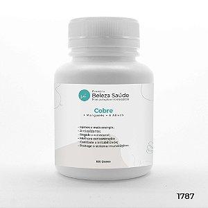 Cobre + Manganês + 6 Ativos - Fórmula para Energia Muscular - 100 doses