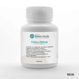 Colina 250mg + Inositol 250mg - Fórmula para Saúde Corporal - 200 doses