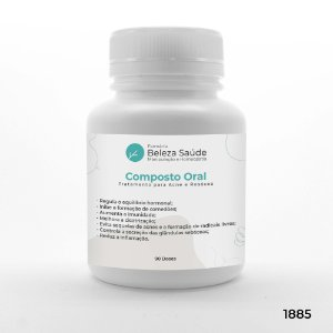 Composto Oral para Tratamento da Acne e Rosácea - 90 doses