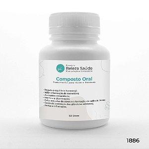 Composto Oral para Tratamento da Acne e Rosácea - 120 doses