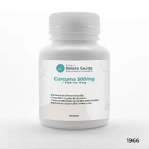Curcuma 500mg + Piperina 15mg Saúde Física e Mental - 60 doses