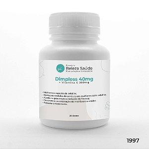 Dimpless 40mg + Vitamina C 300mg - Trata Celulite - 30 doses