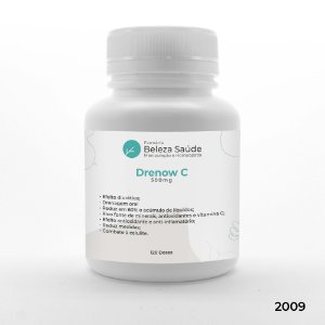 Drenow C 500mg  - Drenagem em Cápsulas Uso Diário Anti Celulite - 120 doses