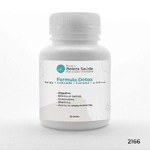 Formula Detox - Boldo + Camomila + Curcuma + 3 Ativos - 90 doses