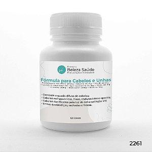 Fórmula para Cabelo e Unha Enfraquecidos Finos Quebradiços - 120 doses