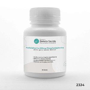 Fosfatidilserina 200mg Phosphatidylserine : Ativo Forte para Saúde Mental - 90 doses