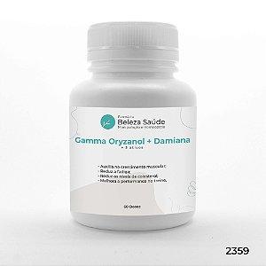 Gamma Oryzanol + Damiana + 3 Ativos - Força e Energia - 60 doses