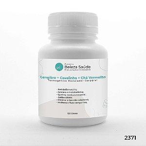 Gengibre + Cavalinha + Chá Vermelho - Termogênico Modulador Corporal - 120 doses
