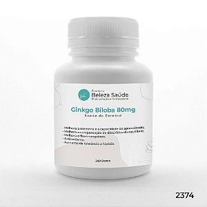 Ginkgo Biloba 80mg Saúde do Cérebro - 240 doses
