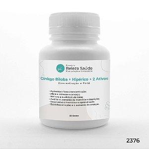 Ginkgo Biloba + Hipérico + 2 Ativos - Concentração e Foco - 60 doses