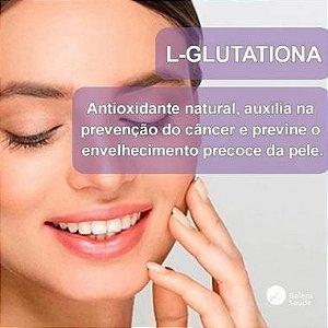L Glutationa 250mg - Glutathione Gluta Antioxidante  Antienvelhecimento da Pele - 120 doses