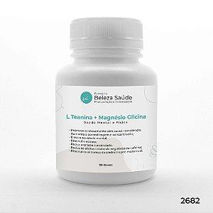 L Teanina + Magnésio Glicina - Saúde Mental e Física - 90 doses