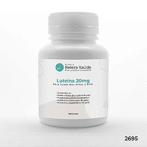 Luteína 20mg Para Saúde Dos Olhos E Pele - 120 doses