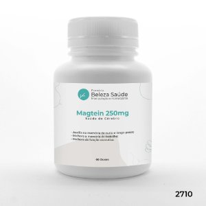 Magtein 250mg - Original Chemyunion Magnésio Treonato : Saúde do Cérebro - 60 doses