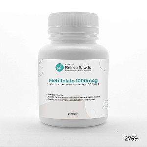 Metilfolato 1000mcg + Metilcobalamina 500mcg + B6 15mg - 240 doses