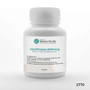 Metil Folato 800mcg - Detox e Ação Cardiovascular - 75 doses