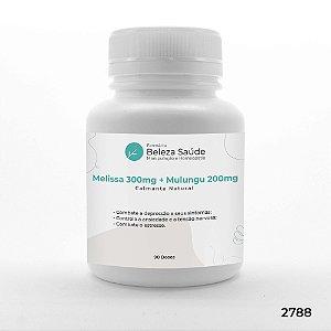 Melissa 300mg + Mulungu 200mg - Calmante Natural - 90 doses