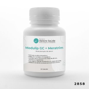 Modulip Gc 200mg + Meratrim 400mg - Manutenção do Peso - 60 doses