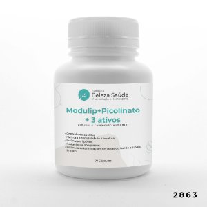 Modulip + Picolinato + 3 Ativos - Diminui Compulsão Alimentar - 60 doses