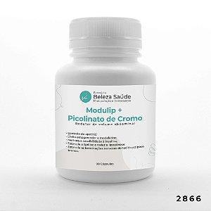 Modulip  + Picolinato De Cromo - Redutor Volume Abdominal - 90 doses