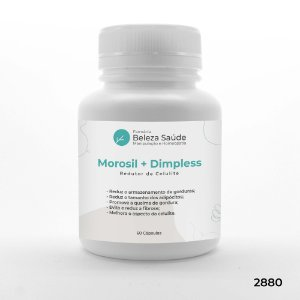 Morosil 500mg + Dimpless 40mg - Redutor de Celulite - 60 doses