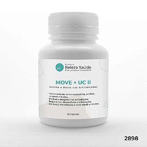 Move 50mg  + Uc II 20mg - Artrite e Dores nas Articulações - 60 doses