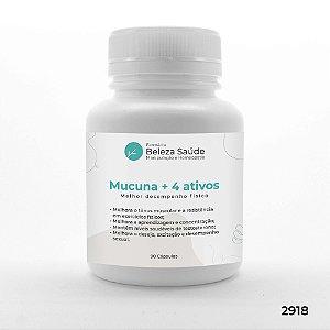 Mucuna + 4 Ativos - Melhor desempenho físico - 90 doses