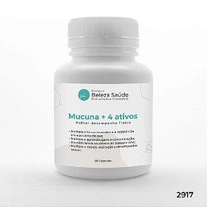 Mucuna + 4 Ativos - Melhor desempenho físico - 60 doses