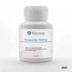 Neopuntia 700mg : Ativo Forte para Dietas de Emagrecimento - 60 doses