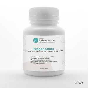 Niagen 50mg - Booster mitocondrial Anti Envelhecimento - 120 doses