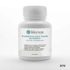 Probióticos para Saúde da Mulher : Pool com 7 Lactobacillus - 60 Cápsulas